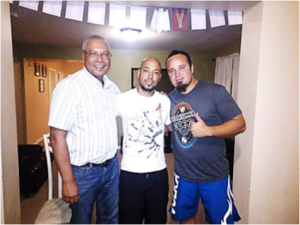 Left to right, Rev. Gerson, Wilson and Rodrigo